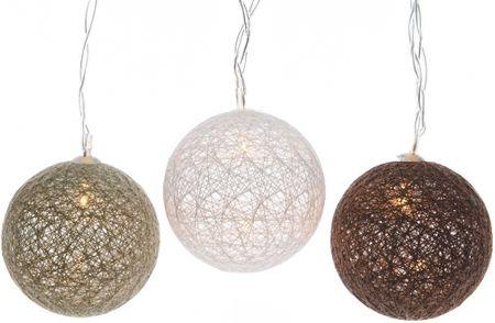 Kaemingk LED dekoratívna guľa hnedé 180 cm