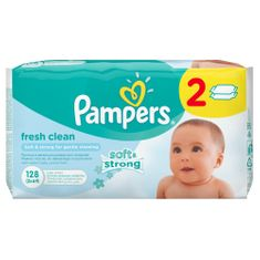 Pampers Ubrousky Baby Fresh - 2 x 64ks