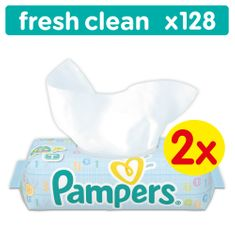 Pampers Ubrousky Baby Fresh - 2 x 64ks