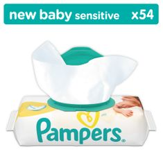 Pampers Törlőkendő Sensitive NewBorn 54 db