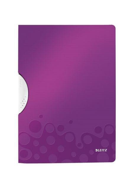 Desky s bočním klipem Leitz WOW purpurové
