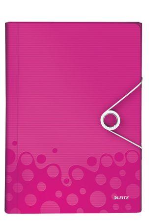 Aktovka s přihrádkami Leitz WOW metalicky růžová