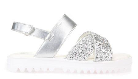 Geox dekliški sandali Coralie, srebrni, 34