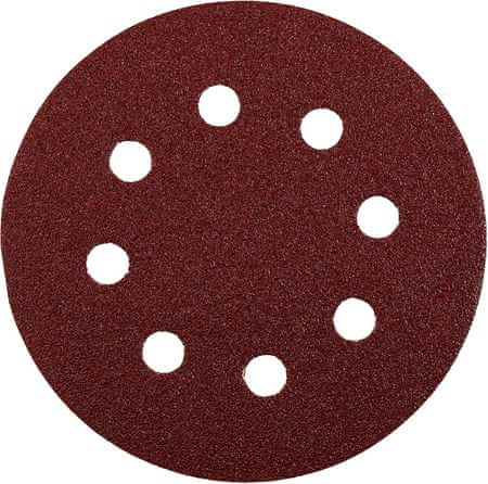 KWB samolepilni brusni papir za les in kovino, Ø 125 mm, GR 120, 5 kosov (491912)