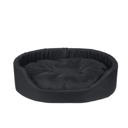 Argi pasja postelja z blazino, črna, M