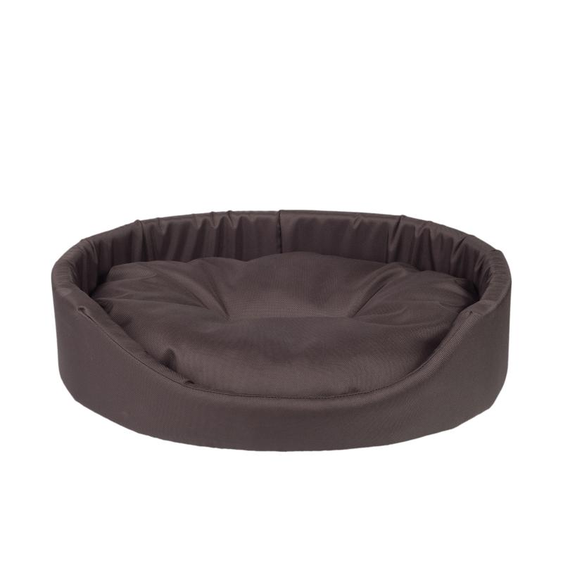Argi Pelech pro psa oválný s polštářem - hnědý vel. L