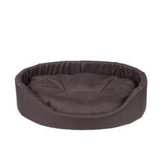 Argi Pelech pro psa oválný s polštářem - hnědý
