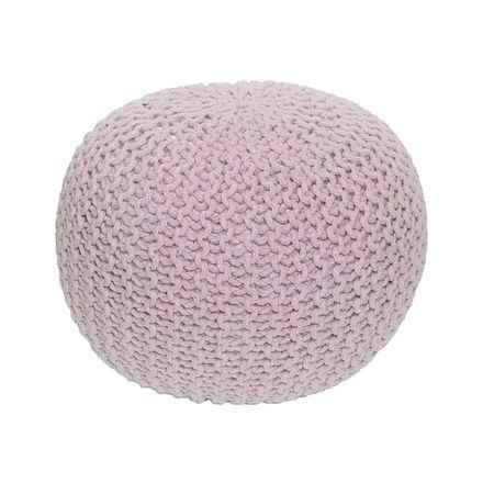 Pletený taburet, púdrová ružová,, GOBI TYP 2
