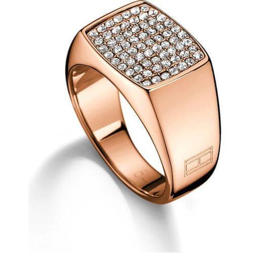 Tommy Hilfiger Bronzový prsten s krystaly TH2700734 (Obvod 58 mm)