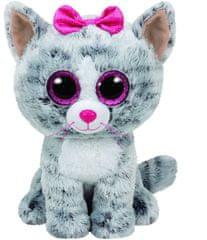 TY Beanie Boos szürke cica KIKI, 24 cm - Medium