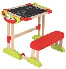 Smoby igrača tabla z zložljivo klopjo 2v1