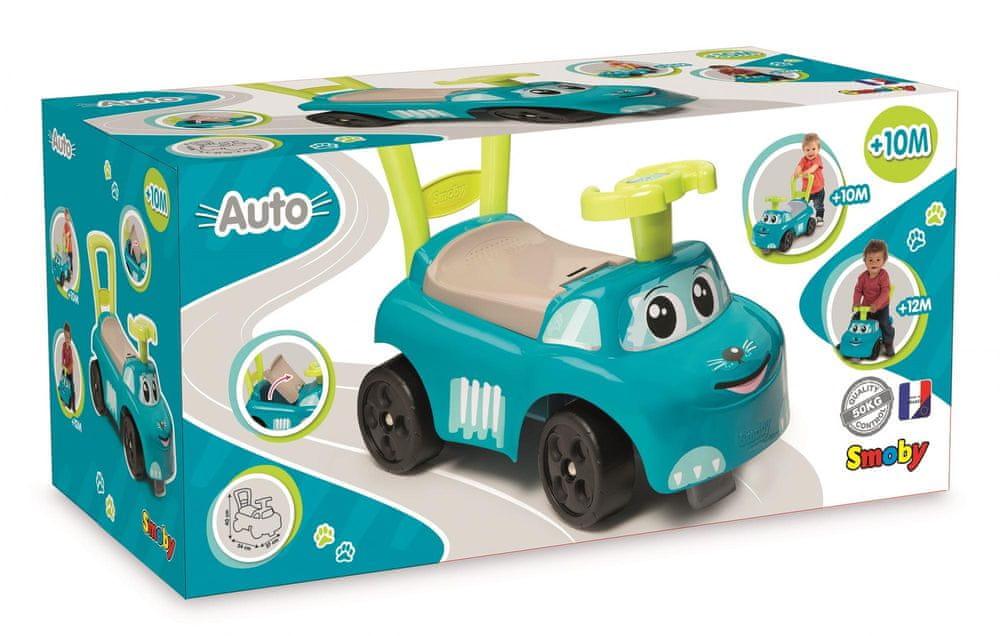 Smoby Odrážedlo auto modré - rozbaleno