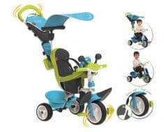 Smoby tricikel Baby driver Confort, modro-zelen