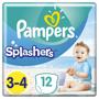 1 - Pampers hlačne plenice za v vodo Splashers S3, 12 kosov
