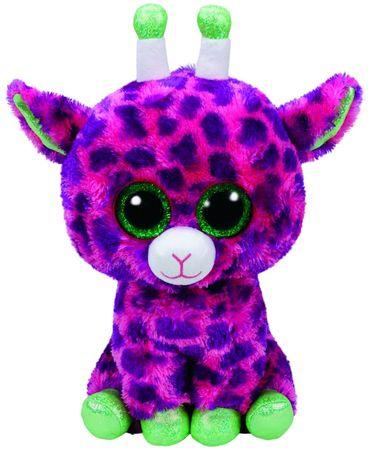 TY maskotka Beanie Boos Gilbert - różowa żyrafa, 24 cm