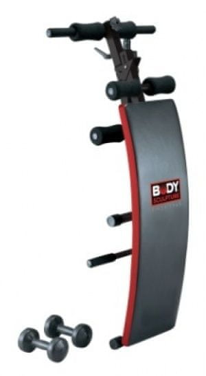 Body Sculpture BS 510 klop za trebušnjake, zložljiva + uteži, 2 x 1,5 kg