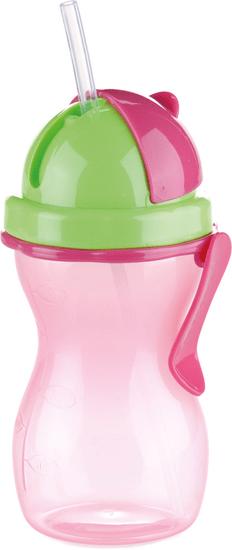 Tescoma Dětská láhev s brčkem BAMBINI 300ml růžová