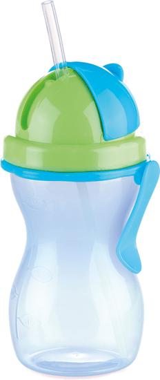 Tescoma Dětská láhev s brčkem BAMBINI 300ml modrá