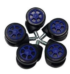 UVI Chair univerzalni gumirani koleščki spirala, modri