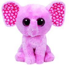 TY igrača BOOS rozni slonček SUGAR, 24 cm - Medium