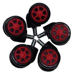 UVI Chair univerzalni gumirani koleščki spirala, rdeči - Odprta embalaža