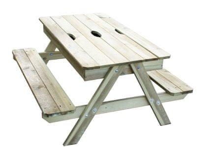 TRIGANO stoleček dřevěný piknik s úložným prostorem