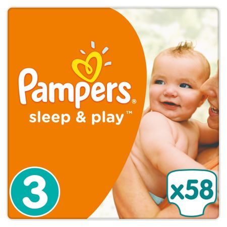 Pampers plienky Sleep&Play 3 Midi - 58 ks