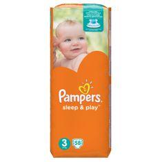Pampers Sleep&PlayMIDI (3), 4-9 kg, 58 kosov