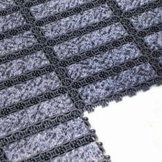 Černá plastová čistící vnitřní vstupní rohož - 20,5 cm a 20,5 cm