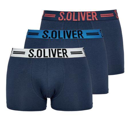 s.Oliver trojité balení pánských boxerek M tmavě modrá