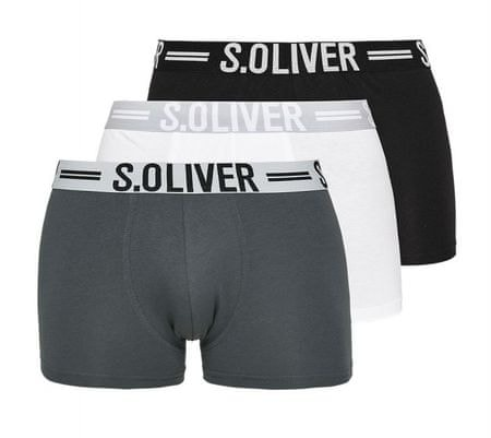 s.Oliver trojité balení pánských boxerek XXL vícebarevná