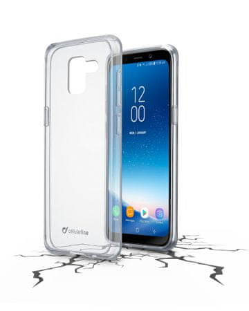 CellularLine prozoren ovitek iz plastike in robom iz gume ClearDuo za Samsung Galaxy A8 (2018)