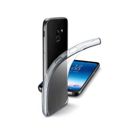 CellularLine prozoren in tanek gumijast ovitek Fine za Samsung Galaxy A8 (2018)
