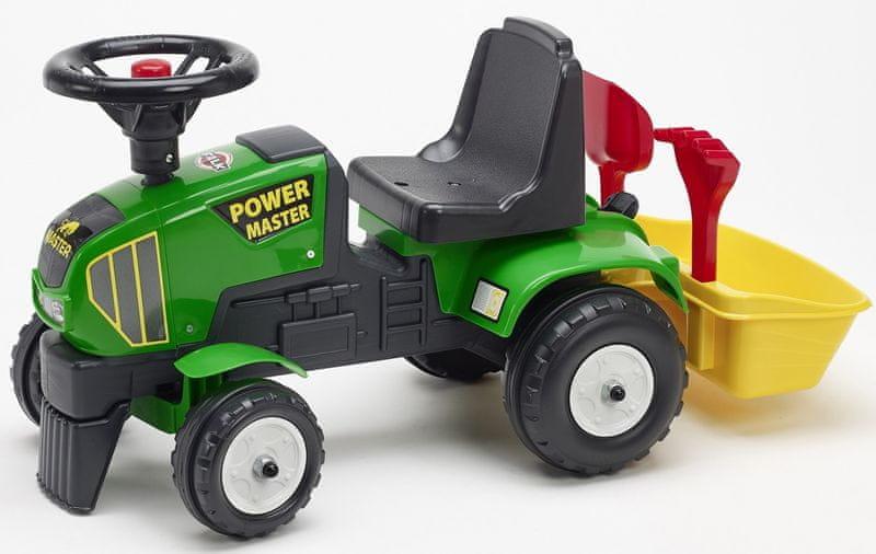 Falk Odstrkovadlo traktor Farm Master s volantem a valníkem