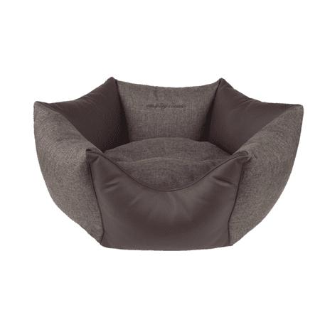 Argi šestkotna postelja za psa - Classic, rjava