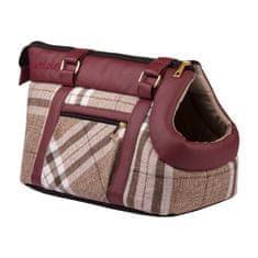 Argi torba za psa iz poliestra Kent, rjava z vzorci