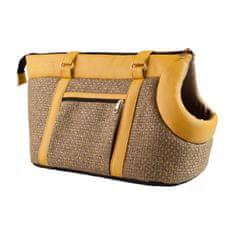 Argi torba za psa iz poliestra Morgan, rumeno rjava