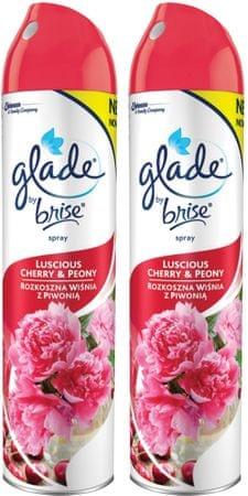 Glade Spray Csábító pünkösdirózsa és megy 2x 300 ml