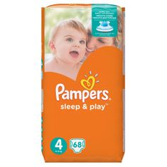 Pampers Sleep & Play Jumbo Pack S4 68ks