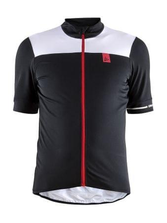 Craft moška kolesarska majica Point, črno-bela, S