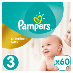 Pampers Plenky PremiumCare 3 Midi - 60 ks