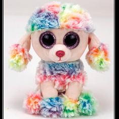 TY igrača Beanie Boos RAINBOW - barviti pudelj, 62 cm