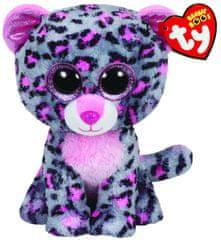 TY Beanie Boos szürkés-rózsaszín leopárd TASHA, 62 cm - XL