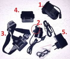 Eastpower nadomestna baterija 4x2200, 18650mAh, li-ion