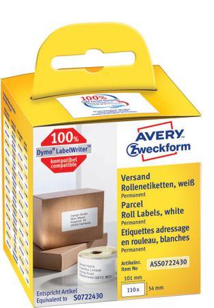 Avery Zweckform etikete na kolutu AS0722370, za Dymo in Seiko termalne tiskalnike, 54 x 101 mm