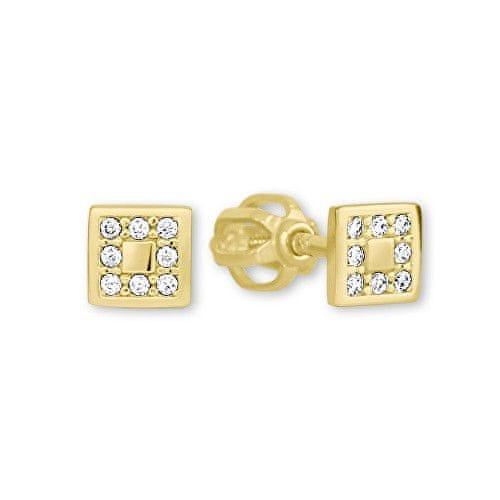 Brilio Zlaté dámské náušnice 239 001 00700 - 1,05 g zlato žluté 585/1000