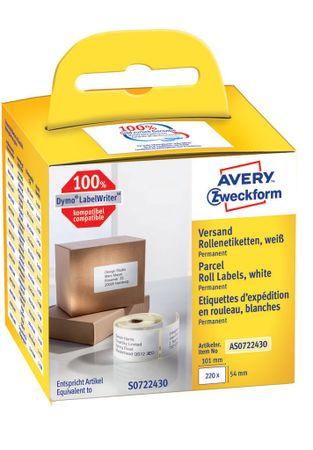 Avery Zweckform etikete na kolutu AS0722430, za Dymo in Seiko termalne tiskalnike, 54 x 101 mm