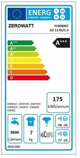 Zerowatt pračka OZ 117D/1-S + prodloužená záruka na 3 roky