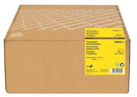Avery Zweckform etikete TD8060-25, za termalne tiskalnike, 103 x 199 mm, notranji premer koluta 25 mm