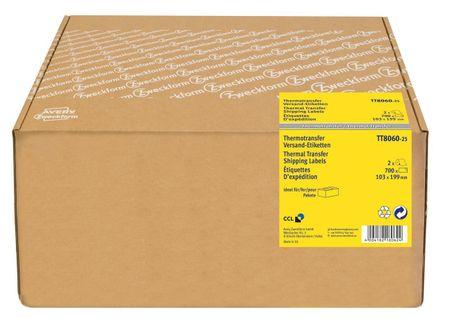 Avery Zweckform etikete TT8060-25, za termo transfer tiskalnike, 103 x 199 mm